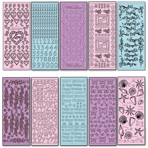 Relief-Sticker, Pastell-Set, 10 Blatt [Spielzeug]