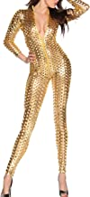 Women's Sexy Hollow Cat Suit One Piece Metallic Sexy Skinny Clubwear Costume