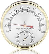 Haofy 2 en 1 Thermomètre Hygromètre de Salle de Sauna, Mètre Celsius Moniteur de Humidité et Température Intérieur avec Ca...