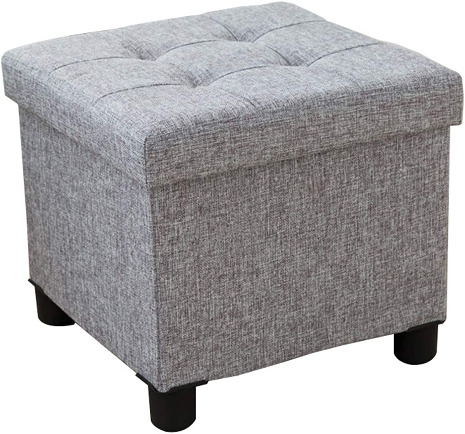 Stool - shoes Bench, Household Storage Sofa Bench, can sit in The Storage Box (38  38  35) cm