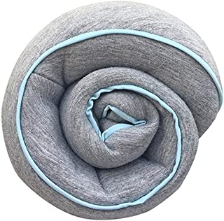 Memory Cotton U-Shaped Pillow Portable Travel Neck Pillow Flying Pillow Protection Shoulder Neck AMINIY (Color : Gray)