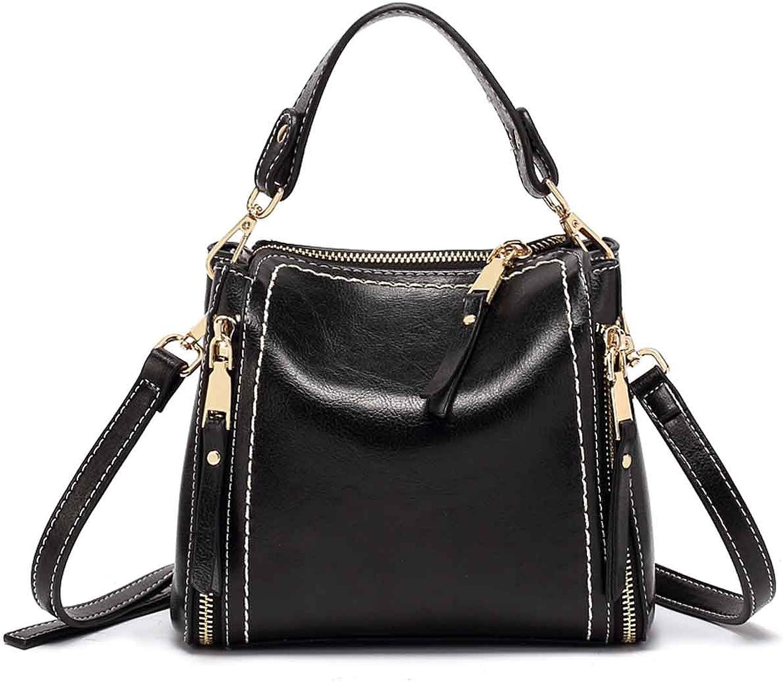 TUBACKPACK PU Leather Multi Zipper Mini Handbag Five Colours Bag Cross Body Handbags Shoulder Saddle Bag for Girls and Women