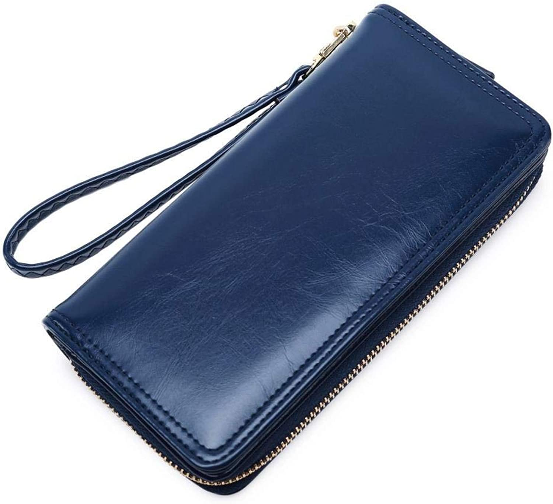 Girls Purse Women's Wallet,Wallet PU Leather Women's Mobile Bag Long Zipper Bill Clip 19  9.5  3.5cm (color   C)