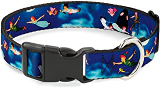 Buckle-Down Cat Collar Breakaway Peter Pan Flying Scene 8 to 12 Inches 0.5 Inch Wide