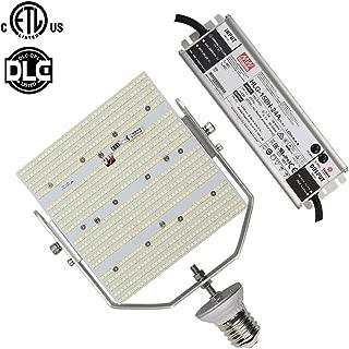 ETL Listed 120W LED Shoebox Retrofit 400 Watt High Pressure Sodium Parking Lot Pole Light Replace MH/HID E39 Mogul Base 6500K Pure White 100-277V