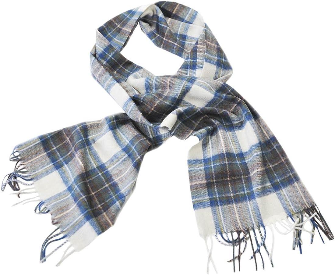 Celtic Irish Wool Scarf With Blue, Grey & Cream Design