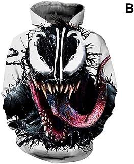 43db75a2ae Fernando Guapo 1 pcs Impression 3D Venom Sweat à Capuche, Spiderman Cosplay  Pull Manteau,