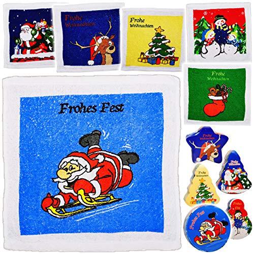alles-meine.de GmbH 6 Stück _ magische Waschlappen / Handtücher - Zauberwaschlappen - Weihnachten - Frottee aus 100 % Baumwolle - Magic Towel - Waschfleck - Waschtuch - Waschhand..