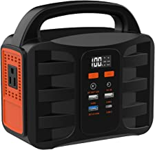 NTONPOWER Portable Power Station - 155Wh Solar Generator, Lithium Polymer Battery Emergency Backup Power Supply, 110V AC Outlet, 1 DC Ports, 4 USB Ports, LED Flashlights for Camping, CPAP, Emergency
