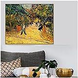 zkpzk Vincent Van Gogh Entrada Al Parque Público En Arles Pintura Al Óleo sobre Lienzo Carteles Imag...