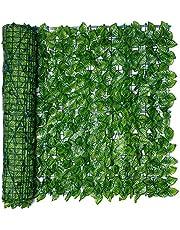 Chirsemey Rollo De De Hojas Artificialesl, Cerca De Balcón Artificial, Cerca De Protección De Privacidad De Jardín De Plástico Verde Instantáneo, 0.5X1 / 3M