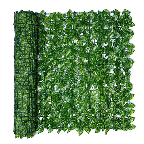 Evenlyao Artificial Leaf Screening,Expanding Trellis Fence Roll with Ivy Leaves,UV Fade Protected Privacy Hedging Wall Landscaping Garden Fence Balcony Screen