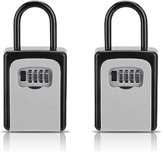 Key Lock Box, [2 Pack] Combination Lockbox for Keys with Code, Combo Door Lock-Box House Key Storage Locker - 2 Pack