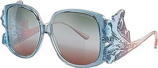 جورجيو أرماني نظارة شمسية للنساء, اطار اسيتات ذو عدسات زرقاء. 58 ملم