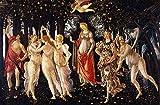 JH Lacrocon Sandro Botticelli - Primavera Reproducción Cuadro sobre Lienzo Enrollado 120X80 cm - Pinturas Mitológico Impresións Decoración Muro