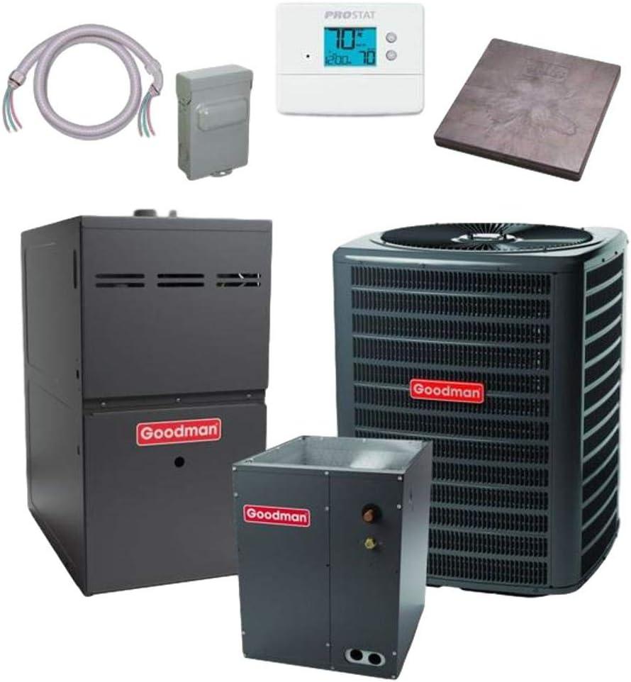Cash special price Goodman 3 Purchase TON 16 SEER GSX160361 bundle CAPF4961 Conditioner Air