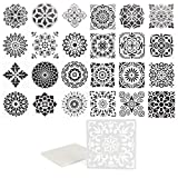 DIY DOT PAINTING STENCILS: Our washable and reusable mandala dot painting stencils for DIY rock art painting projects are perfect for adults, young artists, and crafters WIDE APPLICATION: Add this set of mandala stencils to your arts and crafts suppl...