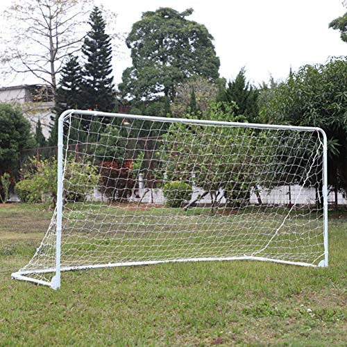 Zdmathe Portable Soccer Goal, 10 x 6 x 4 Ft, Folding Soccer Gate - Backyard Soccer Goal with All Weather Net - Soccer Training Equipment for Kids and Adults
