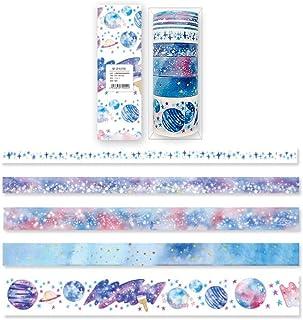 Amaoma 9 Rouleaux Décoratif Washi Papier Masking,Washi Ruban Adhésif Décoratif Washi Papier pour Scrapbooking Arts Crafts ...