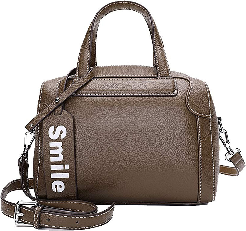 Onzama Fashion Leather Handbags for Women Small Boston Bags Top Handle Shoulder Purse