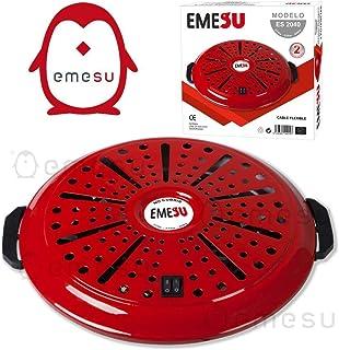 EMESU Brasero electrico Calefactor radiador termostato 375W 525W 900W braseros