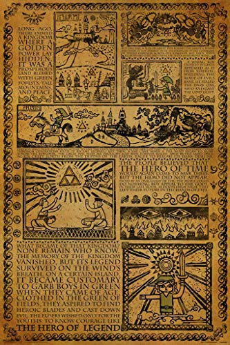 Pyramid America Zelda Story of The Hero Time Legend Mythology Timeline Video Game Gamer Laminated Dry Erase Sign Poster 24x36