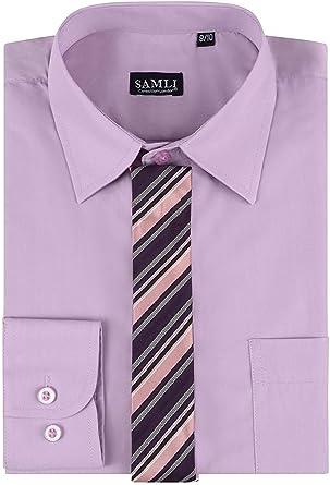 Conjunto de Camisa y Corbata para Hombre, de Manga Larga, en ...