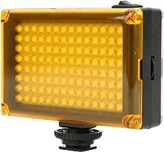 112 LED-videolamp, dimbaar invullicht LED-paneel op camera met koude schoenbevestiging, DSLR-camera Videovullicht voor bru...