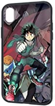 Pretty Design iPhone XR Case, HeroAca Bnha Anime Overhaul Mirio Togata Sir Nighteye Deku SandProof Shockproof Slim Fit Full Protection Tempered Glass Cover Case for iPhone XR 6.1 Inch