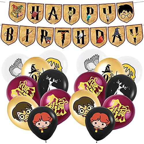 Babioms Artículos de Fiesta para Cartoon, Cumpleaños Decoracion de Fiesta Mago Estandarte de Cumpleaños Globo, Mago Cumpleaños Fiesta Decoracion Temática