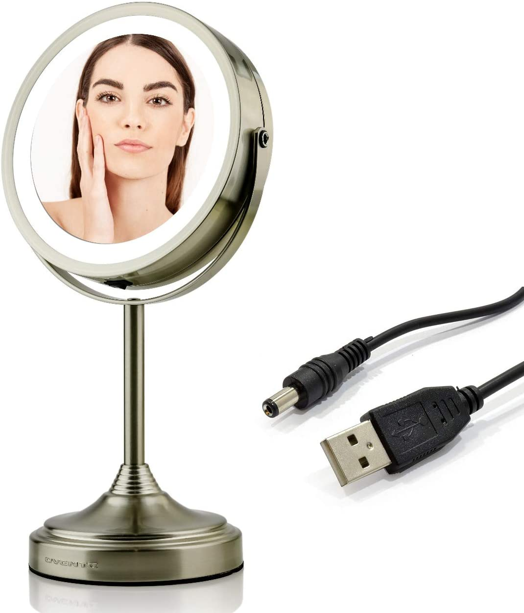 Ovente Lighted Vanity Mirror Table Rechargeable Factory outlet Sale Top 360 Degree