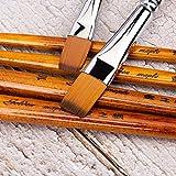 Immagine 1 fuumuui pennello piatto per artisti