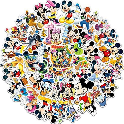 JZLMF JZLMF - 50 pegatinas de dibujos animados de Mickey Mouse, impermeables, crema solar, equipaje, guitarra, portátil, trolley o coche