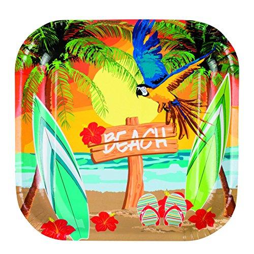 Boland 52467 Einweg Geschirr Beach-Teller