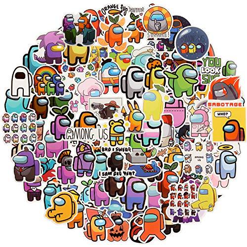 EKKONG 100pcs 100pcs Among Us Laptop Vinyl Aufkleber Wasserdicht Stickers - für Snowboard Motorrad Fahrrad Telefon Computer DIY Tastatur Autofenster Stoßstange Wandgepäck Aufkleber Graffiti Patches