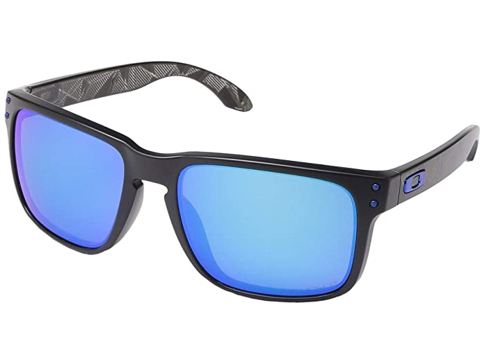 Oakley Holbrook (Matte Black Prizmatic w/ PRIZM Sapphire Polarized) Sport Sunglasses