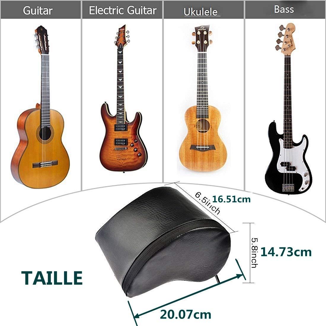 Cojín guitarra descansa pies Guitar Bass Pad para clásico ...