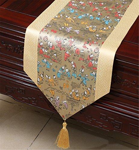 Sucastle® 33X200cm Raso di seta Runner per tavolo,Tovaglie