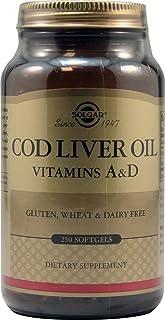 Solgar, Cod Liver Oil, Vitamin A & D, 250 Softgels - 2pc