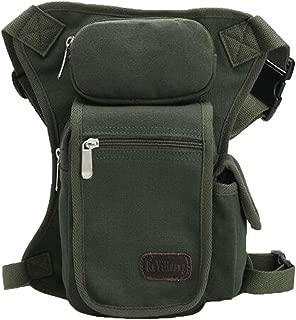 RANRANHOME Mens Drop Leg Bag Retro Canvas Sports Racing Tactical Leg Bag