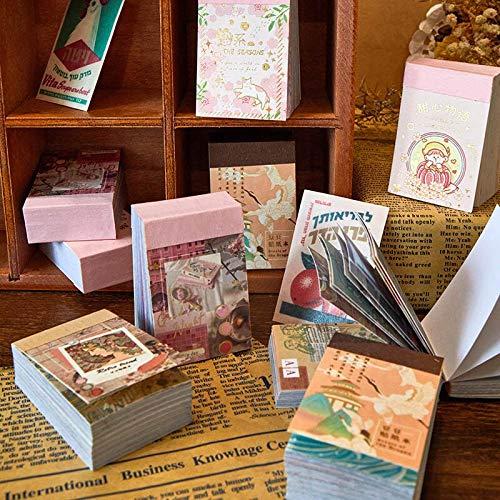 80 Blatt Retro Pflanze Aufkleber Vintage Briefpapier Aufkleber dekorative Kleber Aufkleber Tagebuch Scrapbooking Flakes Label Supplies