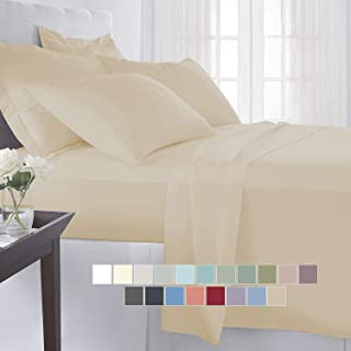 BEVI - Home Super Solid 204 Tc Microfiber Single Size Bedsheet with 1 Pillow Covers- (Ivory)