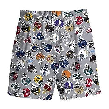 NFL Logos All Over Youth 4-7 Pajama Shorts  Medium 5-6  Gray