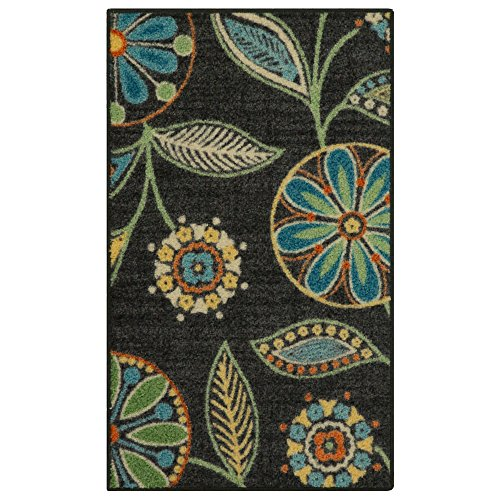 Mejor Maples Rugs Reggie Floral Kitchen Rugs Non Skid Accent Area Carpet [Made in USA], Multi, 1'8 x 2'10 crítica 2020
