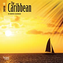 The Caribbean 2018 7 x 7 Inch Monthly Mini Wall Calendar, Travel Nature Beach Tropical Island (Multilingual Edition)