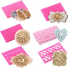 6 Pack Patterns Fondant Embosser Cake Fondant Embossing Mold,Lace Flower Cookie Cutter Set,Cake Fondant Cup Cake Decorating (Style One)