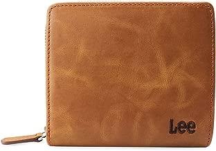 Lee リー 財布 2つ折り財布 0520371 ロゴ刺繍 ラウンドファスナー ジップコインポケット