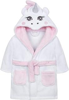 b47e08524ed3e BabyTown Bébé Filles Blanc Licorne à Capuche Peluche Peignoir