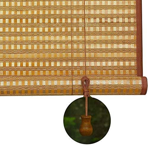 JLXJ Rollos Verdunkelungs 90% Blackout Bambuslatte Rollläden, Terrassenfenster Balkon Pergola Tür Sonnenschutz, 55cm/75cm/95cm/115cm/135cm Breit (Size : 95×150cm)