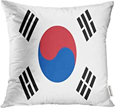 Emvency Throw Pillow Covers Decorative Cases Asia South Korea Flag Asian Korean Official 20x20 Inch Cover Cushion Pillowcase Square Case Print